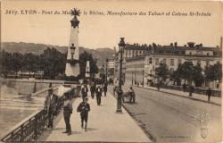 Lyon : Pont du Midi sur le Rhône, Manufacture des Tabacs et Coteau St-Irénée