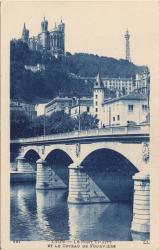 Lyon : Le Pont Tilsit et le Coteau de Fourvière
