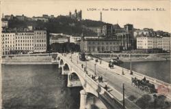 Lyon : Pont Tilsit et coteau de Fourvière