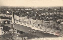 Lyon : Perspective sur Saint-Georges ; Le Quai Tilsit