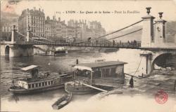 Lyon : Les Quais de la Saône ; Pont la Feuillée