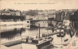 Lyon : le Pont La Feuillée ; Vue sur les Chartreux