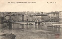 Lyon : Pont La Feuillée ; Perspective du quai St-Vincent
