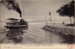 Évian-les-Bains : Départ de bateau