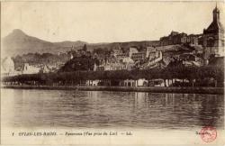 Évian-les-Bains : Panorama (Vue prise du Lac)