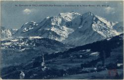 Environs de Sallanches (Hte-Savoie) : Combloux et le Mont-Blanc ; Alt. 4810 m.