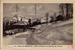 Route de Megève : Mont d'Arbois et la Chaîne de Varens