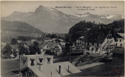 Haute-Savoie : Vue de Megève ; Les Aiguilles de Varrens et désert de Platée