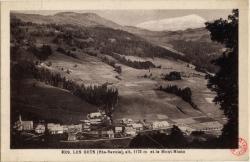 Les Gets (Hte-Savoie) : alt. 1172 m et le Mont-Blanc
