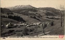 Les Gets (1172 m. d'alt.). : Village fondé par les Juifs venus de la Toscane au XIV's
