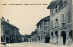 Rumilly (Hte-Savoie) : Place de l'Hôtel-de-Ville ; Les Portiques