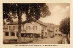 St-Julien-en-Genevois (Hte-Savoie) : Avenue de la Gare