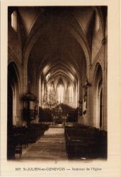 St-Julien-en-Genevois (Hte-Savoie) : Intérieur de l'Eglise