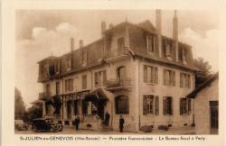 St-Julien-en-Genevois (Hte-Savoie) : Frontière franco-suisse ; Le Bureau fiscal à Perly
