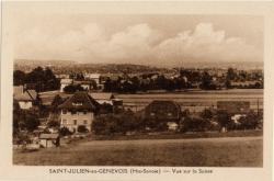 St-Julien-en-Genevois (Hte-Savoie) : Vue sur la Suisse
