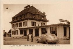 St-Julien-en-Genevois (Hte-Savoie) : La douane Suisse, à Perly