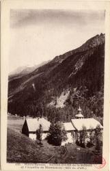 Haute-Savoie : Notre Dame de la Gorge et l'Aiguille de Bionnassay (3581 m. d'alt)