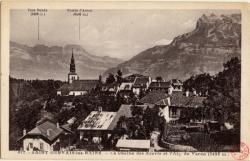 Saint-Gervais-les-Bains : La Chaîne des Aravis et l'Aig. de Varan (2488 m)