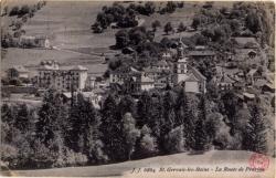 St. Gervais-les-Bains : La Route de Prarion