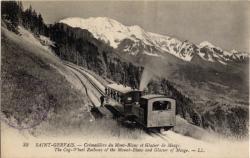 Saint-Gervais : Crémaillère du Mont-Blanc et Glacier de Meagé