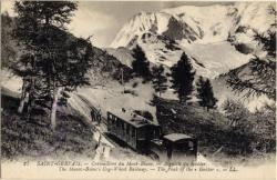 Saint-Gervais : Crémaillère du Mont-Blanc ; Aiguille du Goûter