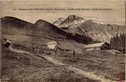 Environs de St-Gervais-les-Bains (Hte-Savoie) : Le Mont Joly (2527 m.) ; Chalets des Chappieux