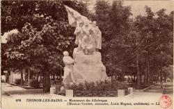Thonon-les-Bains : Monument des Allobroges (Moreau-Vautier, statuaire, Louis Moynat, architecte)