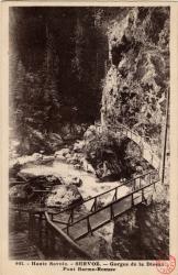 Haute Savoie : Servoz ; Gorges de la Diosaz ; Pont Barme-Rousse