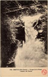 Servoz (Hte-Savoie) : Gorges de la Diosaz ; Cascade des Dames