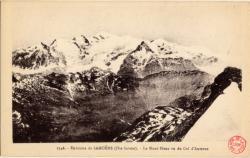 Environs de Samöens (Hte-Savoie) : Le Mont-Blanc vu du Col d'Anterne