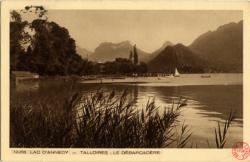 Lac d'Annecy : Talloires ; Le débarcadère