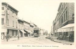 Saint-Fons (Rhône). - Route Nationale et station des Tramways