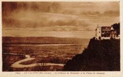 Le Salève (Hte-Savoie). le Château de Monnetier et la Plaine du Genevois
