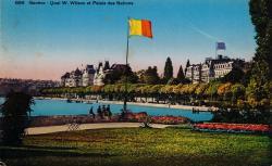 Genève. Quai W. Wilson et Palais des Nations