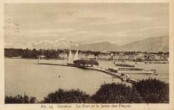 Genève. Le Port et la Jetée des Pâquis