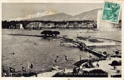 Genève. La Rade et la Jetée des Pâquis