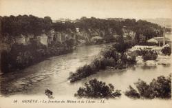 Genève. La jonction du Rhône et de l'Arve