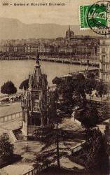 Genève et monument de Brunswick