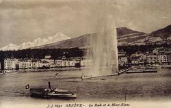 Genève - La rade et le Mont-Blanc