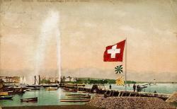 Genève - Rade et Jet d'eau (90 m de hauteur)