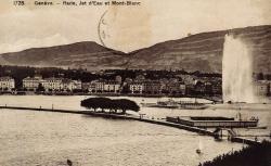 Genève - Rade, Jet d'eau et le Mont-Blanc