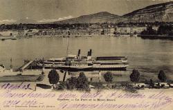 Genève - Le Port et le Mont-Blanc