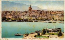 Genève - Port des Paquis et vue sur la ville