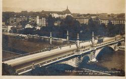 Genève - Pont de la Coulouvrenière et vue sur St Jean