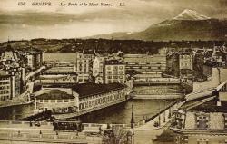 Genève - Les Ponts et le Mont-Blanc