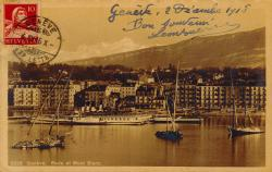 Genève - Rade et Mont-Blanc