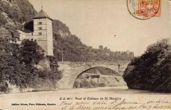 Pont et Château de St Maurice.