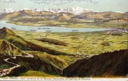 Genève. Gex, Divonne et la Savoie, Panorama du Col de la Faucille.