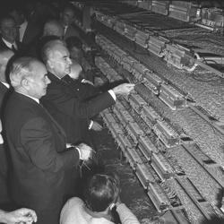 Inauguration P.T.T. Villeurbanne et central téléphonique