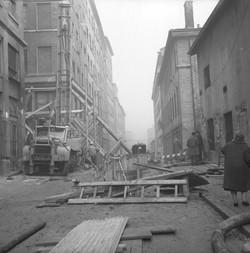 Rues et immeubles en difficultés